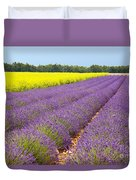Lavender And Mustard Duvet Cover