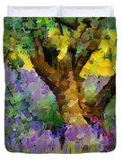 Lavender And Olive Tree Duvet Cover