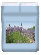 Lavender And The Bee Duvet Cover