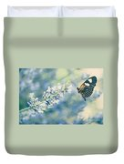 Lavender And The Butterfly Duvet Cover