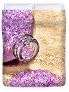 Lavender Bath Salts Duvet Cover by Olivier Le Queinec