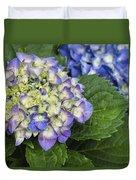 Lavender Blue Hydrangea Blossoms Duvet Cover