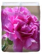Lavender Carnation Duvet Cover