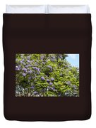 Lavender-colored Blooming Tree Duvet Cover