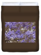 Lavender-colored Tree Blossoms Duvet Cover