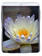 Lavender Edged Lotus Duvet Cover