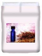 Lavender Essential Oil Bottle Duvet Cover