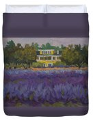 Lavender Farm On Vashon Island Duvet Cover