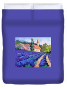 Lavender Field In St. Columne Duvet Cover