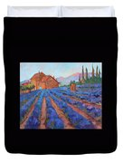 Lavender Field Provence Duvet Cover