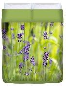 Lavender Flowers Background Duvet Cover