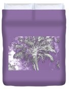 Lavender Glow Palm Tree Myakka River State Park Usa Duvet Cover