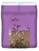 Purple Haiku Duvet Cover
