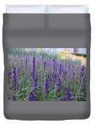 Lavender In The City Park Duvet Cover