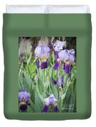 Lavender Iris Group Duvet Cover