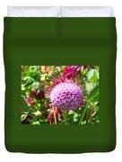 Lavender Purple Dahlia Flowers Art Prints Duvet Cover