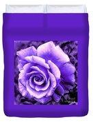 Lavender Rose With Brushstrokes Duvet Cover