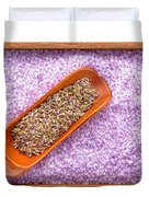 Lavender Seeds And Bath Salts Duvet Cover by Olivier Le Queinec