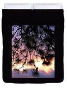 Lavender Sunset Painting Duvet Cover