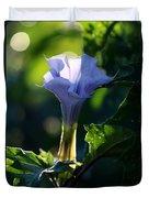 Lavender Trumpet Flower Duvet Cover