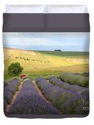 Lavender Valley Duvet Cover by Carol Groenen