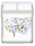 Lavender With Missouri Dogwood In The Window Duvet Cover
