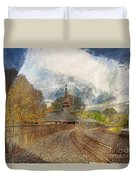 Lawrence Union Pacific Depot Duvet Cover