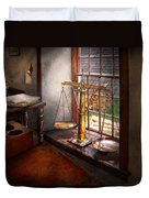 Lawyer - Scales Of Justice Duvet Cover by Mike Savad