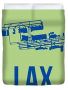 Lax Airport Poster 1 Duvet Cover