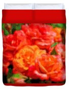 Layer Art Flowers Roses Duvet Cover