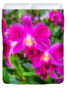 Layer Cut Out Art Flower Orchid Duvet Cover