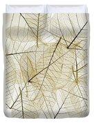 Layered Leaves Duvet Cover by Kelly Redinger