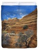 Layered Sandstone Duvet Cover