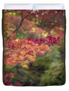 Layers Of Autumn Red Duvet Cover