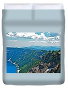 Layers Of Mountains From Watchman Overlook In Crater Lake National Park-oregon  Duvet Cover