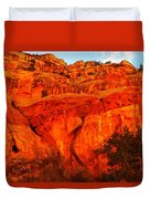 Layers Of Orange Rock Duvet Cover