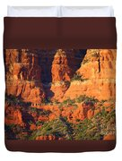 Layers Of Red Rock Duvet Cover