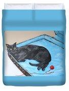 Lazy Black Cat Duvet Cover
