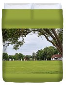 Lazy Sunday Afternoon - Cricket On The Village Green Duvet Cover