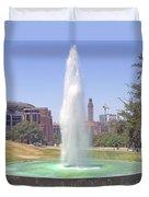 L B J Library Fountain Duvet Cover