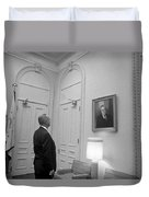 Lbj Looking At Fdr Duvet Cover by War Is Hell Store