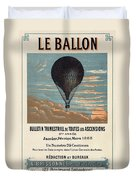 Le Ballon Advertising For French Aeronautical Journal Duvet Cover