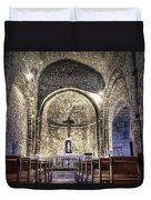 Le Castellet Medieval Church Duvet Cover