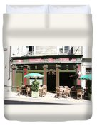 Le Charleston Bar In Tournus Duvet Cover