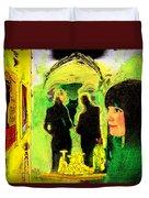 Le Chat Noir Duvet Cover by Chuck Staley