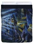 Le Forze Di Una Strada Duvet Cover by Umberto Boccioni