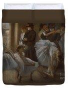 Le Foyer De L'opera Duvet Cover by Edgar Degas