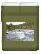 Le Hardy Rapids In Yellowstone River In Yellowstone National Park-wyoming   Duvet Cover