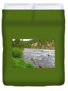 Le Hardy Rapids Of Yellowstone River In Yellowstone River In Yellowstone National Park-wyoming   Duvet Cover