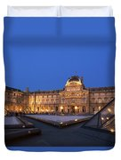 Le Louvre Palace Buildings And Pyramids Duvet Cover